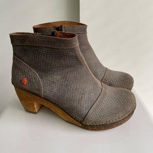 EUC ART Amsterdam ankle boots, grey suede